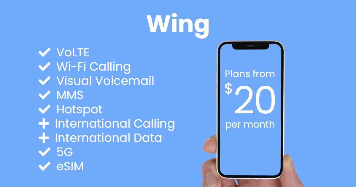 Wing plan features and starting price