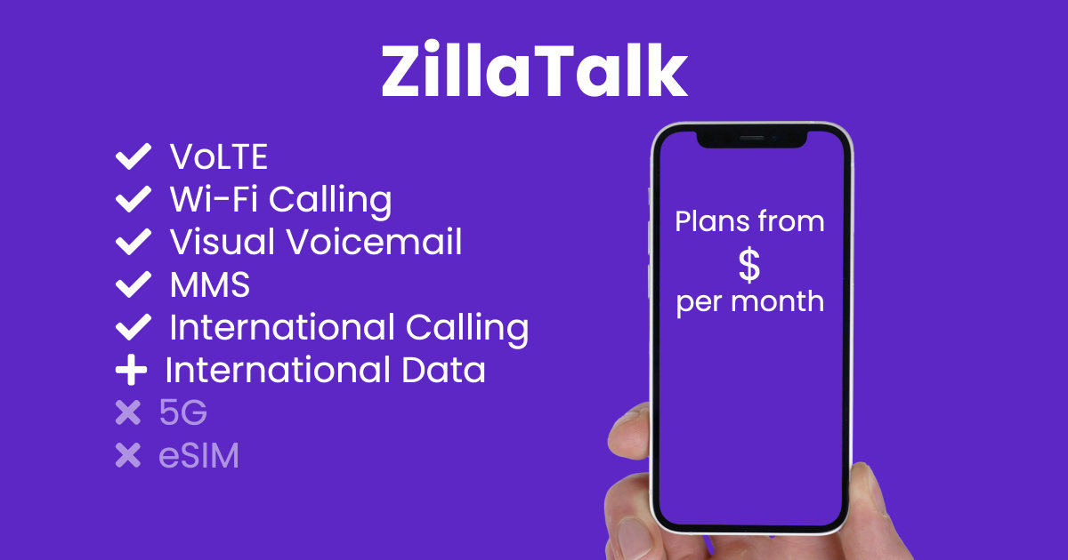 ZillaTalk plan features and starting price