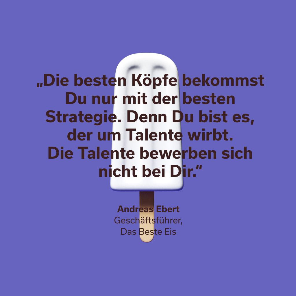 Zitat Florian Sommerfeld Performance Marketing Manager Das beste Eis Media-Agentur