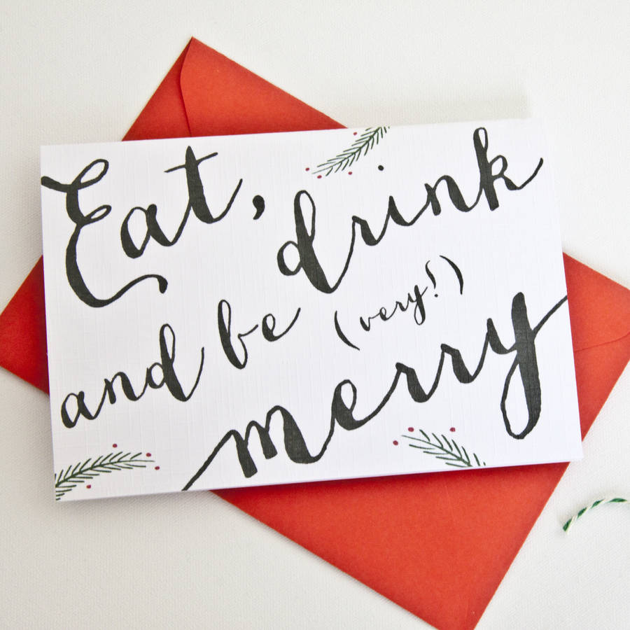 hand type holiday card