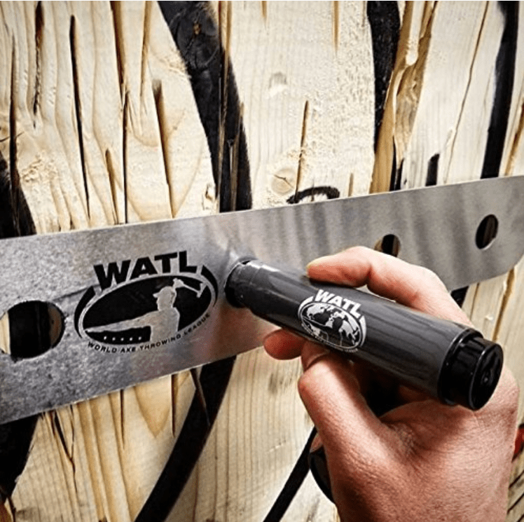 WATL axe throwing stencil and marker