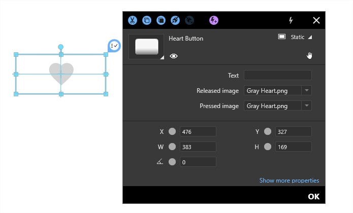 Tutorial how to create an animated heart button