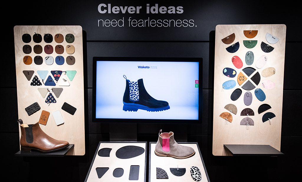 Digital Lab's Intuiface Powered Shoe Customizer