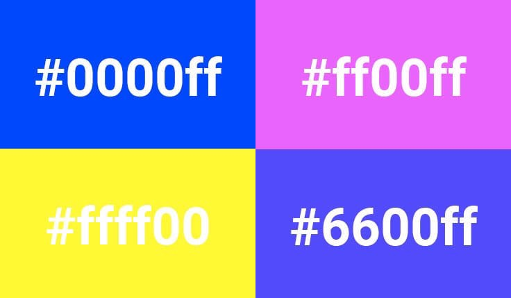 Hex code for brutalist colors