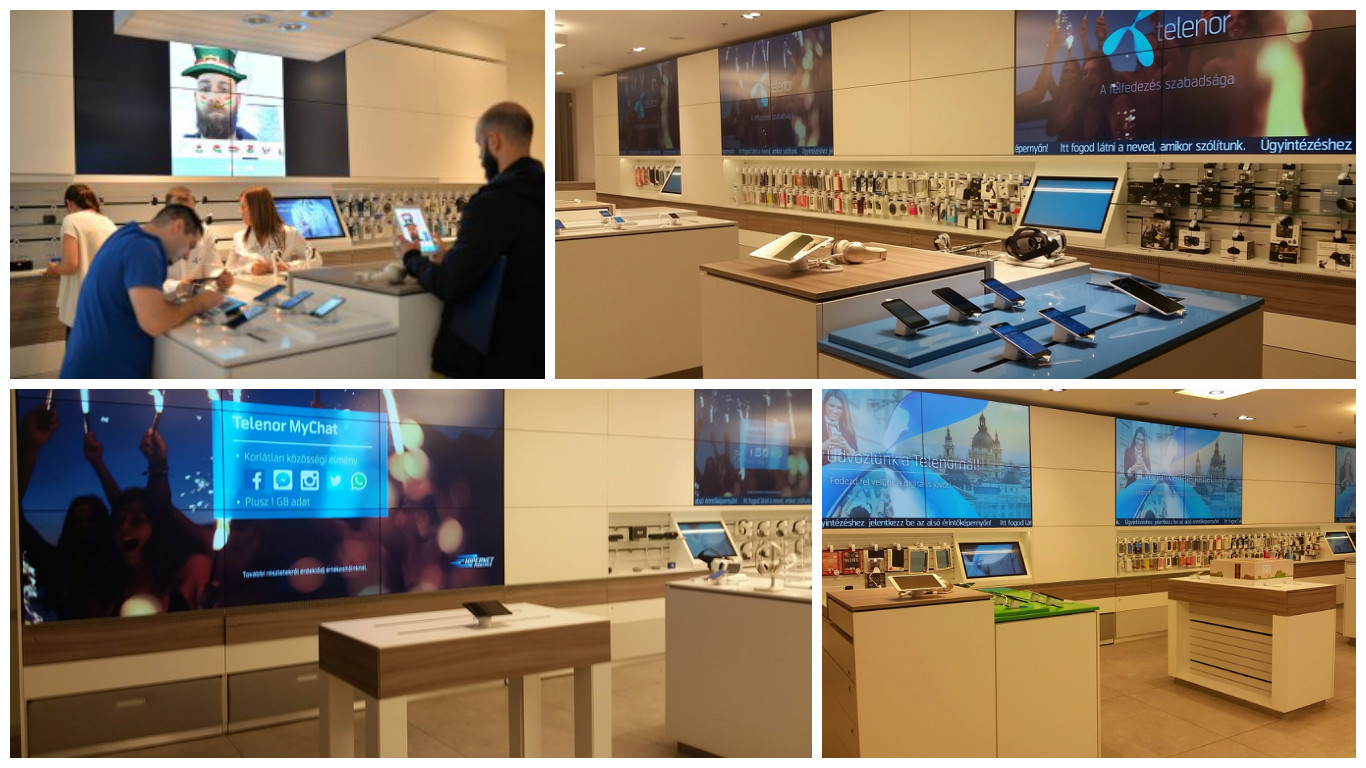 Telenor in-store equipped with Intuiface