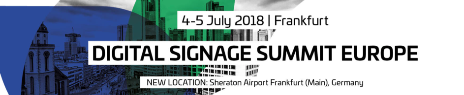Digital Signage Summit Europe 2018 banner