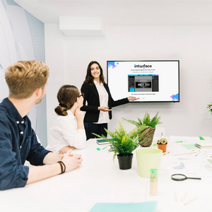 Woman introducing Presentation in Meeting room