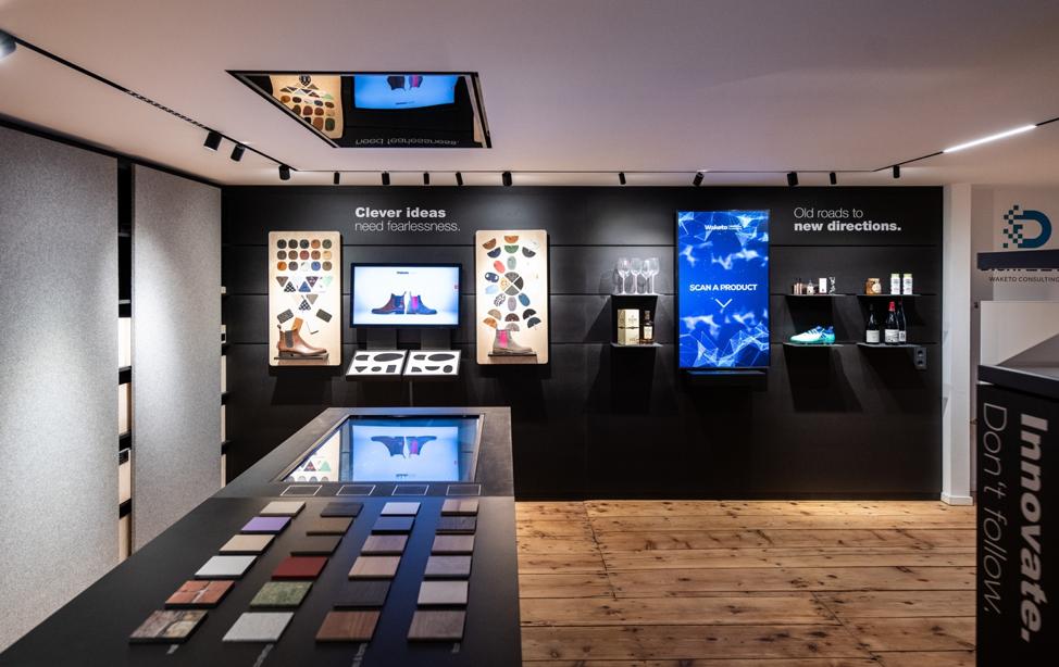 Waketo showroom demonstrating Intuiface powered experiences