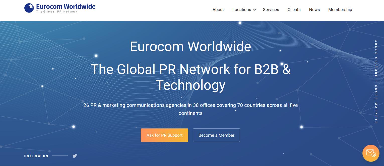 Screenshot of EMG Homepage