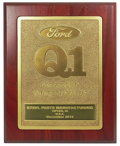 Steel Parts - Ford Q1 Award