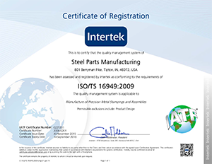 Steel Parts ISO/TS 16949