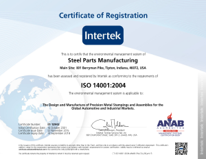 Steel Parts ISO 14001