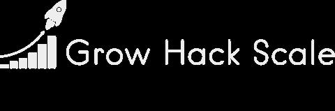Grow Hack Scale's white logo