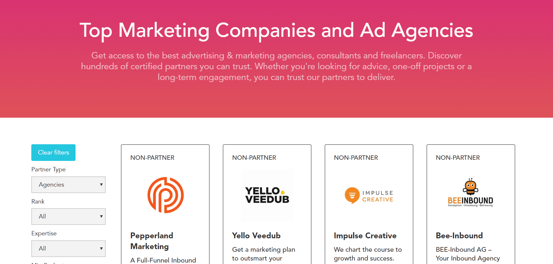marketing agency directory - marketing partner program