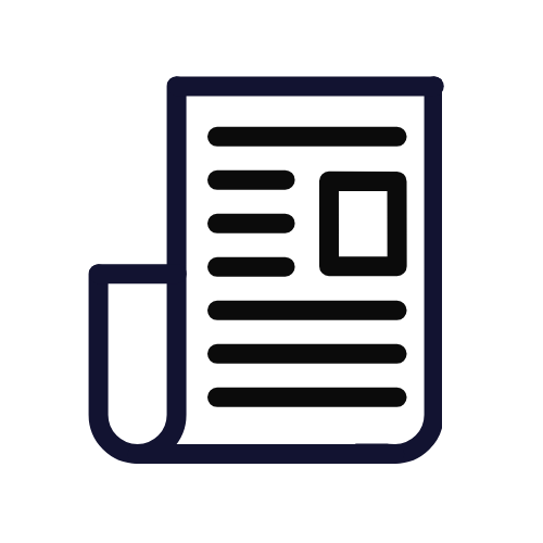 newspaper icon to view related articles and resources
