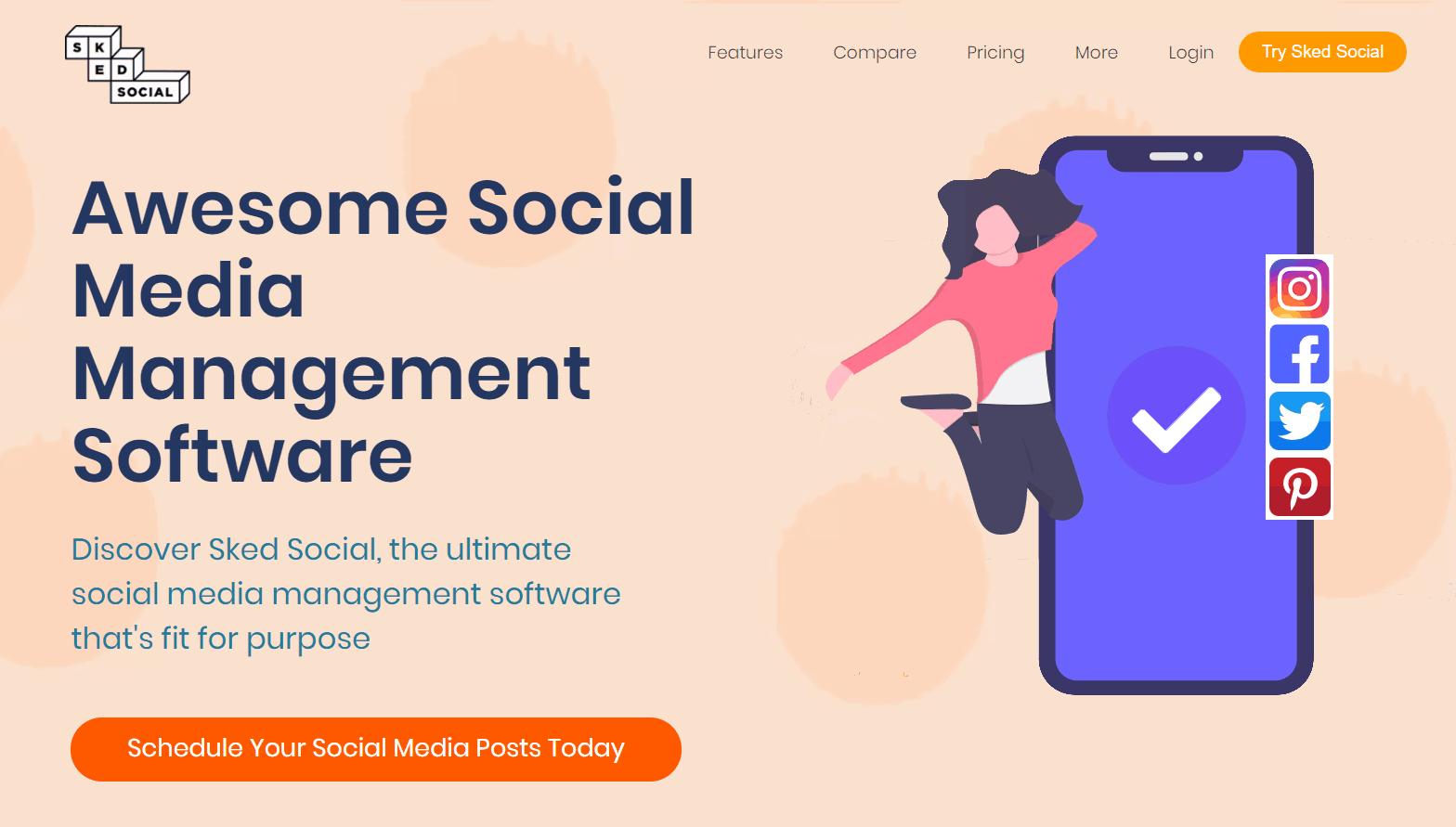 a screenshot of Sked Social's website