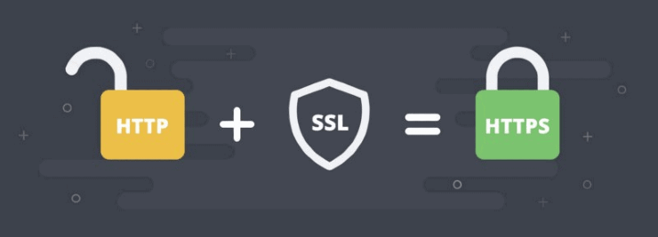 Graphic design showing HTTP + SSL = HTTPS