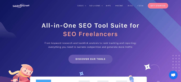 SERPed Homepage Snippet - Free and Paid Ahrefs Alternatives