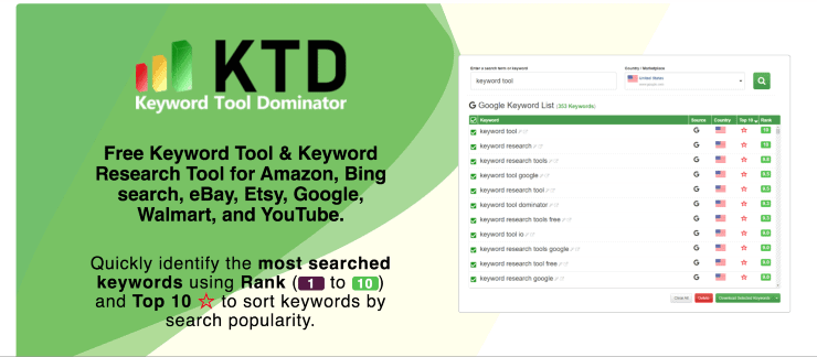 Keyword Tool Dominator Landing Page Snippet