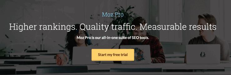 Moz Pro Landing Page Snippet - SpyFu Alternatives