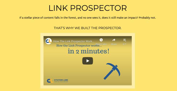 Link Prospector Landing Page Snippet - Best Link Building Tools
