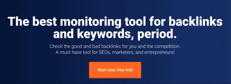 Monitor Backlinks Landing Page Snippet - Moz Alternatives