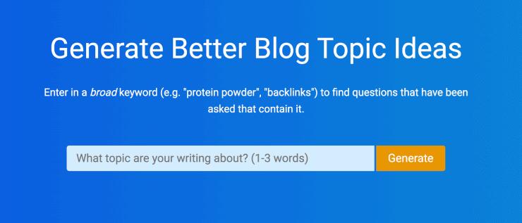 Questiondb - Best Free Keyword Research Tools