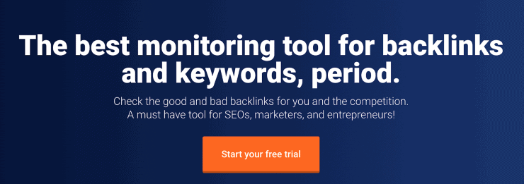 Monitor Backlinks Hero Image - SEMrush Competitors Alternatives