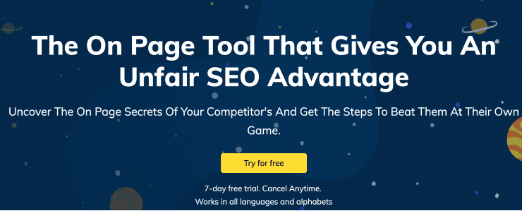 Page Optimizer Pro homepage - Clearscope Alternatives