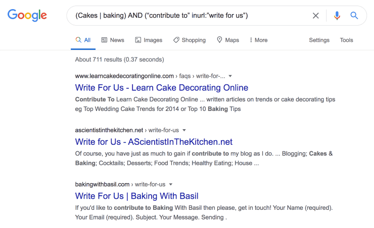 """Google search results for (Cakes   baking) AND (""""contribute to"""" inurl:""""write for us"""")"""