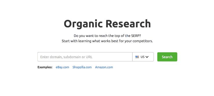 A screenshot of SEMRush organic research - seo tips