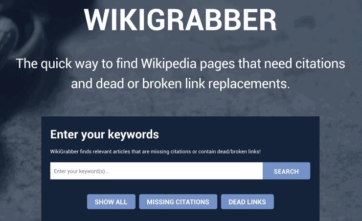 Wikigrabber - WIkipedia backlinks organic traffic