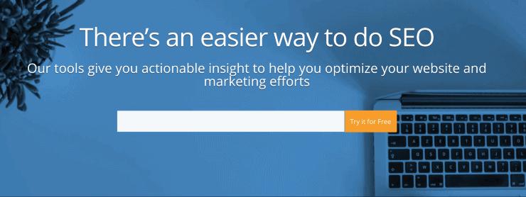 WooRank Landing Page Snippet - Best SEO Analytics Tools