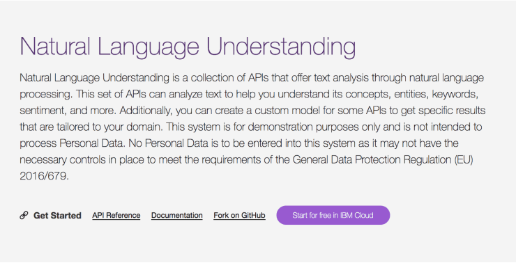 Natural Language Understanding Landing Page Snippet - Best Free SEO Tools