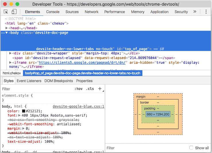 Sample Code from Chrome DevTools - Best Free SEO Tools