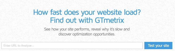 GTmetrix Landing Page Snippet - Best Free SEO Tools