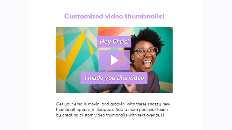 Video for Sales: Customized video thumbnails - CTAs