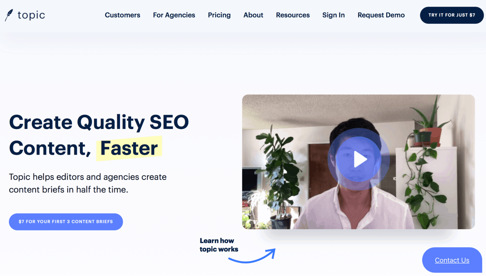 Topic Landing Page - Content Optimization