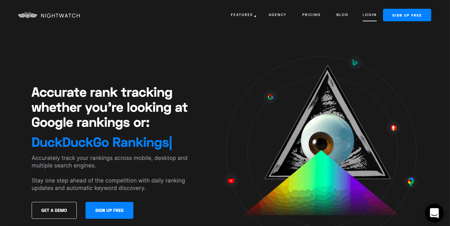 Nightwatch Home Page - Rank Tracking