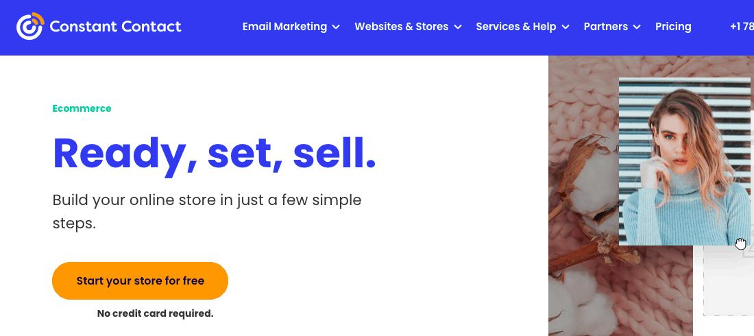 Constant Contact Ecommerce Landing Page- E-commerce