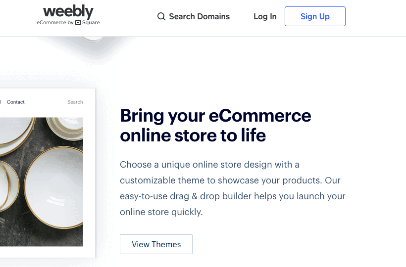 Weebly Landing Page - E-commerce