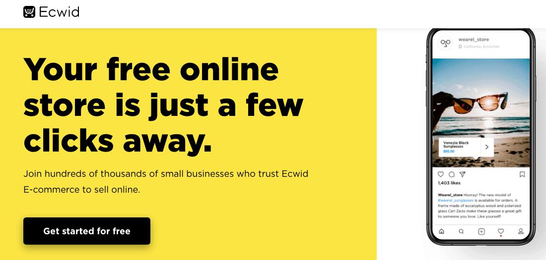 Ecwid Landing Page - E-commerce