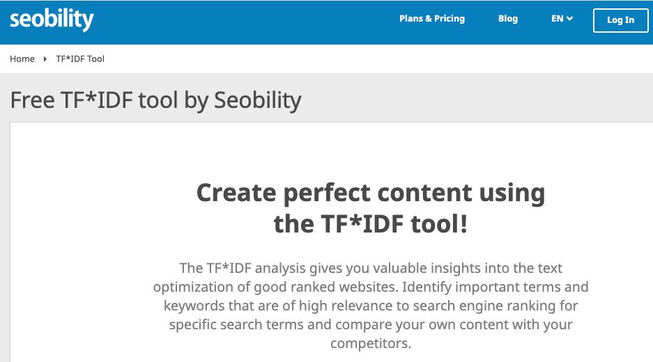 Seobility - TF-IDF