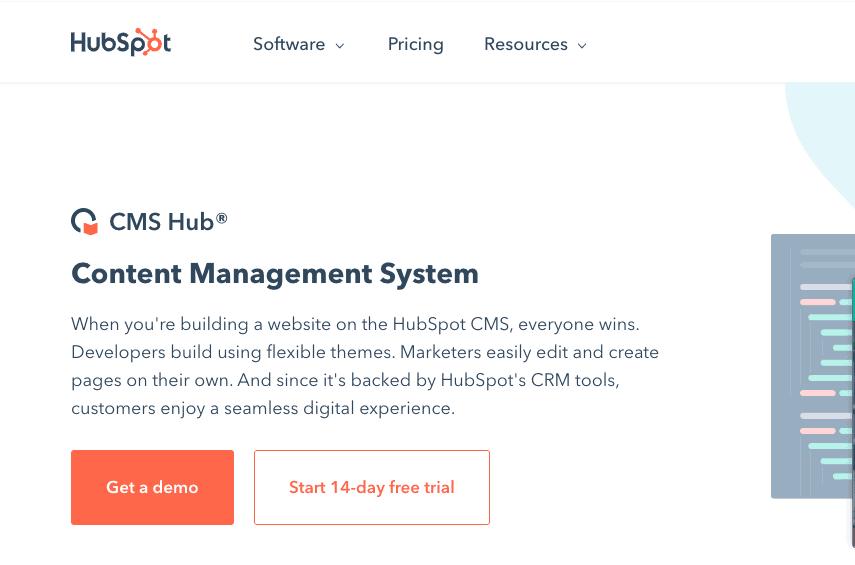 HubSpot Content Management System Landing Page - Content Management System