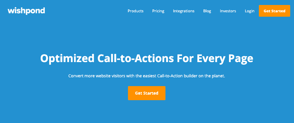 Wishpond Home Page - Call to Action (CTA)