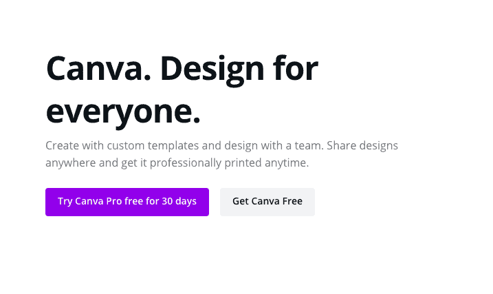 Canva Landing Page Snippet - Call to Action (CTA)