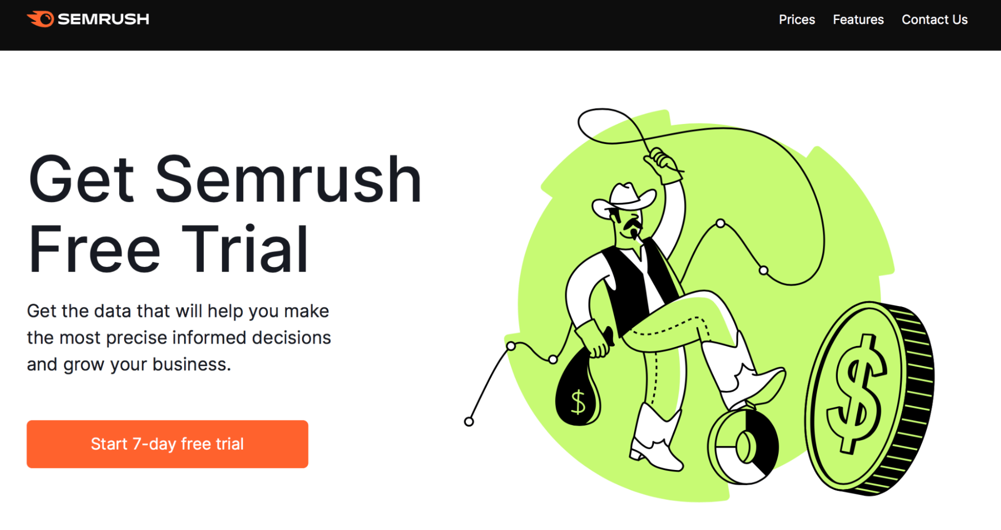 SEMrush Landing Page Snippet - Link Building
