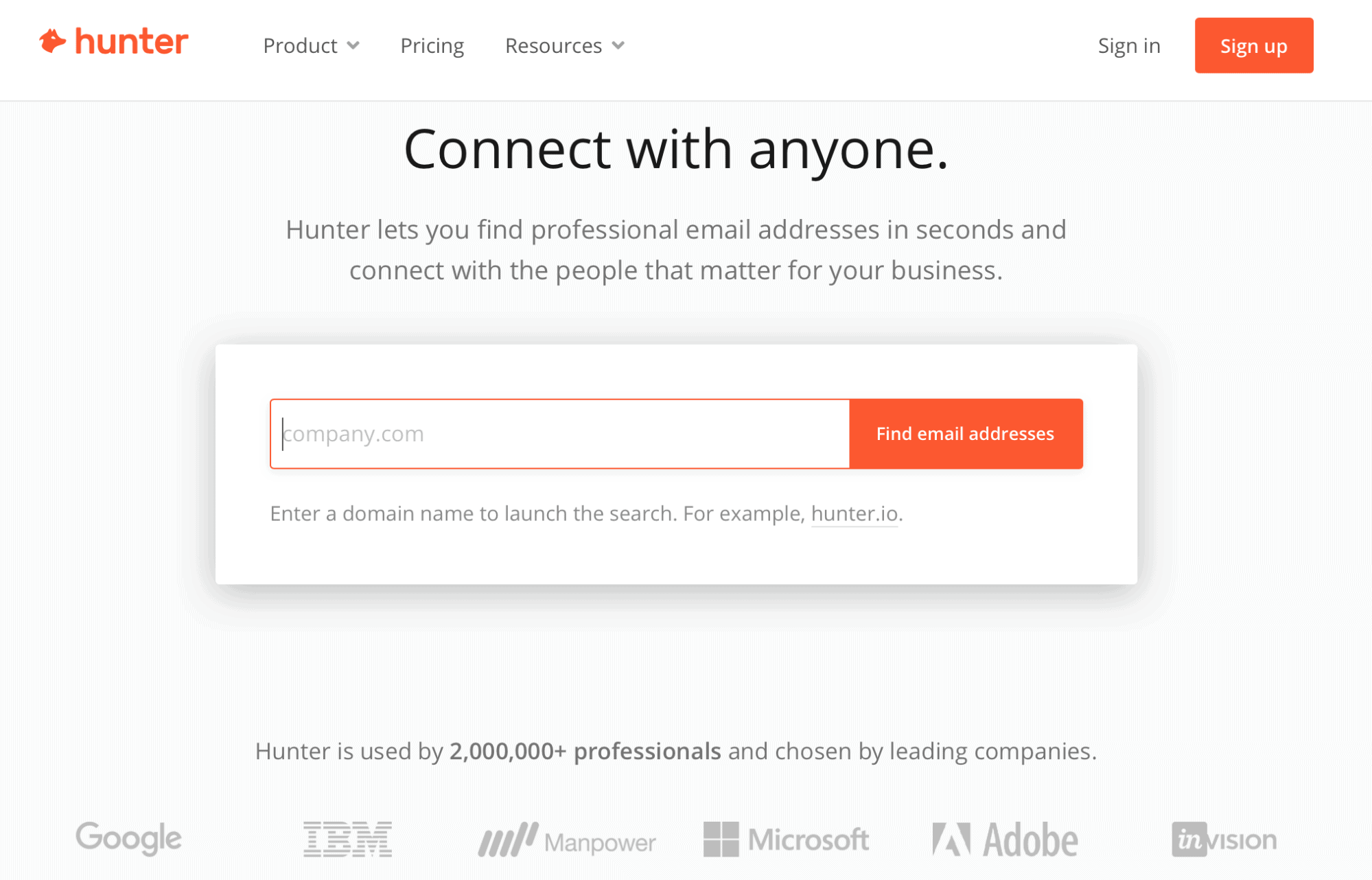 Hunter Home Page - Link Building