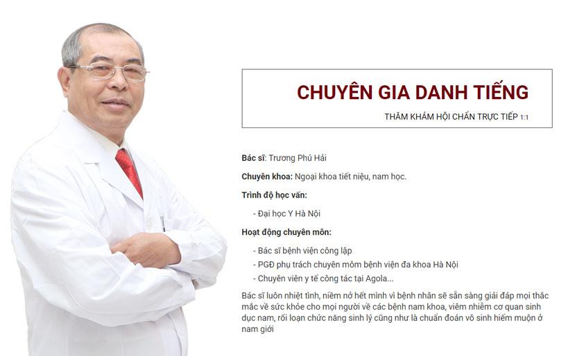 Bác sĩ chuyên khoa Trương Phú Hải