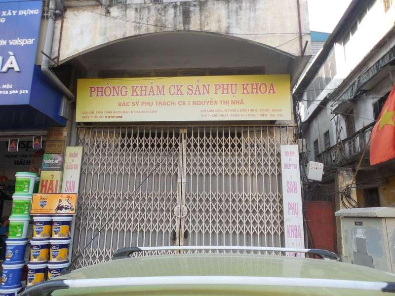 Phòng khám sản phụ khoa bác sĩ Nguyễn Thị Nhã